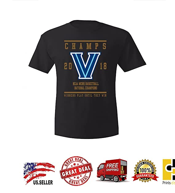 6d8b3236 Image Unavailable. Image not available for. Color: Prints District Villanova  Basketball Champions Winners Play Untill They Win Mens t-Shirt