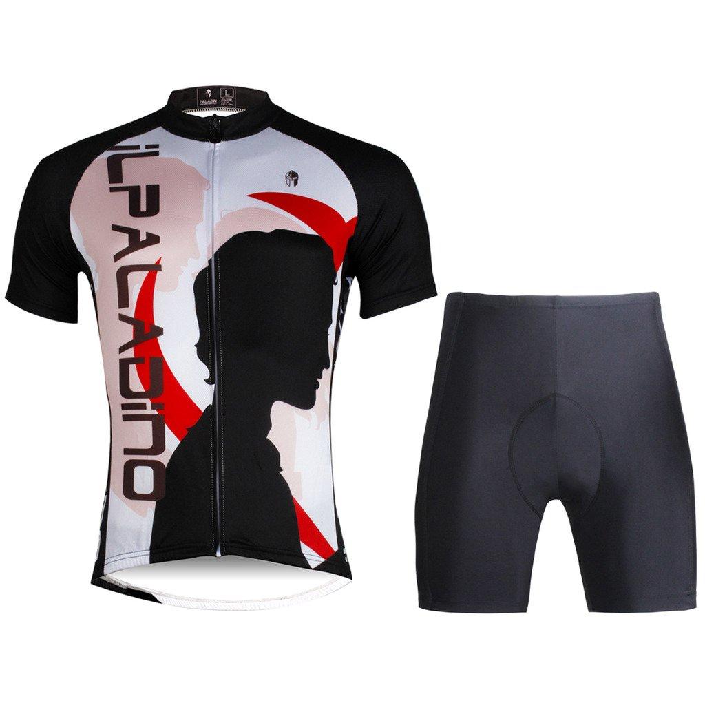 PaladinSportオスPortraitメンズホワイト半袖サイクル服 X-Large=US Size Medium 802-M-Shorts Set B01LAANE5G