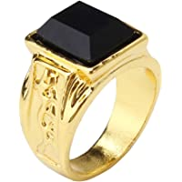 Timetries Mens Vintage Black Diamond Engagement Wedding Rings Gold 8