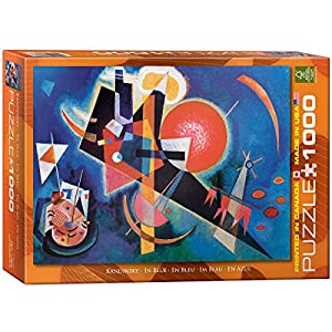 Eurographics in blue by wassily kandinsky puzzle 1000 for Puzzle kandinsky