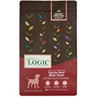 Nature's Logic 581019 Canine Beef Meal Feast, Dry Dog Food, 4.4-Pound Bag, 1 Pack