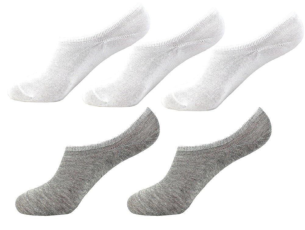 0d903fe9328 Bevalsa Homme Lot de 5 Paires de Chaussettes Basses Invisible Protège Pied  Socks Sport Respirable Souple Antiglisse des Chaussettes Décontractées