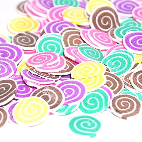 BODOAO Slime 50PCS Colorful DIY 3D FIMO Slice Face Decoration for Homemade Slime Making Craft