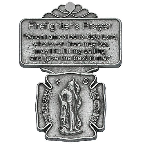 Saint Florian Firefighter Prayer Auto Visor (Firefighter Auto)