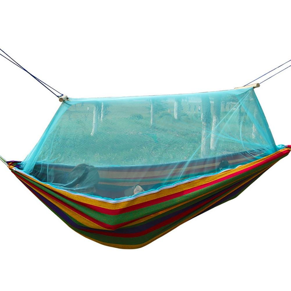 MIAO Outdoor 2 Personen Camping Leinwand Hängematte Mit Moskitonetzen Moskitonetzen Moskitonetzen 15d156