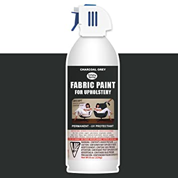 Upholstery Spray Fabric Paint 8oz Charcoal Grey