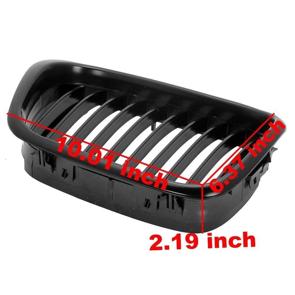Yuk Noir mat avant Rein Grilles Grill pour E39 4DR 525I 528i 530I 540I M5 2000-2003