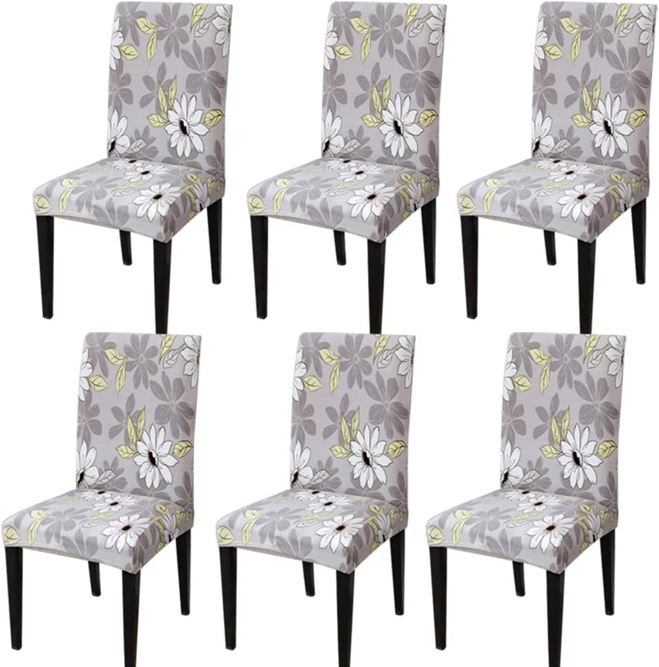 Athyior Dining Chair Cover 4 6 Pack Stretch Dining Chair Covers High Back Chair Protective Slipcover for Hotel Party Wedding Dining Room