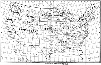 Amazoncom Usa Productive Areas Agricultural Staples 1901 1942 - Staples-us-map