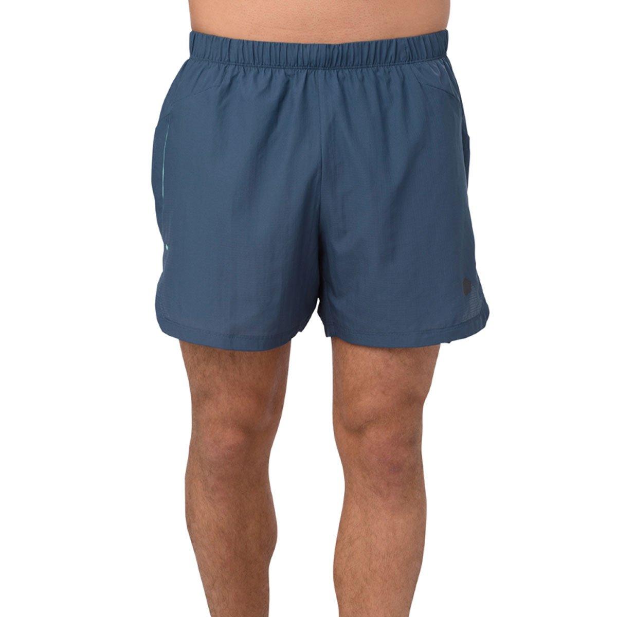 ASICS Herren Cool 2-In-1 5In Laufbekleidung Shorts Dunkelblau - Grau XXL