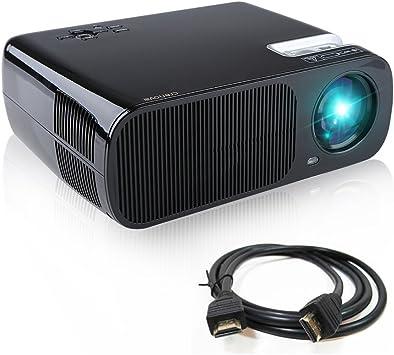 Proyector, Crenova XPE600 Proyector LED Portátil HD Foco ...
