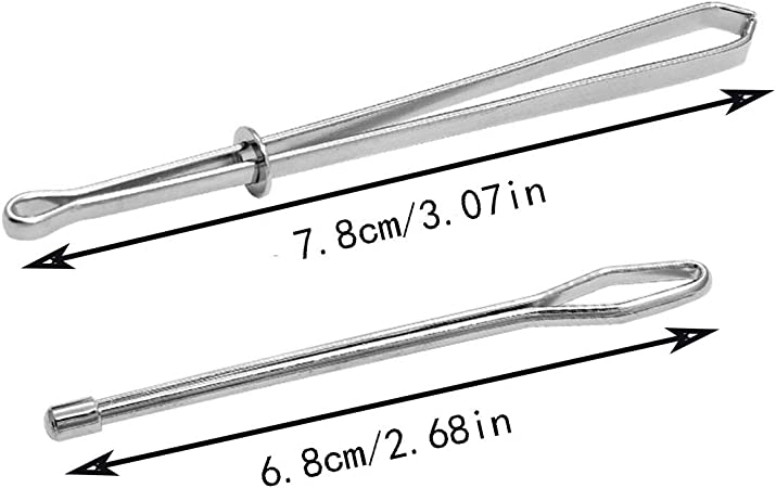 rongweiwang 2pcs Threader Tweezer Elastic Drawstring Steel threader steel Threader Sewing Crafting Rope Cord Pulling Threading Tool