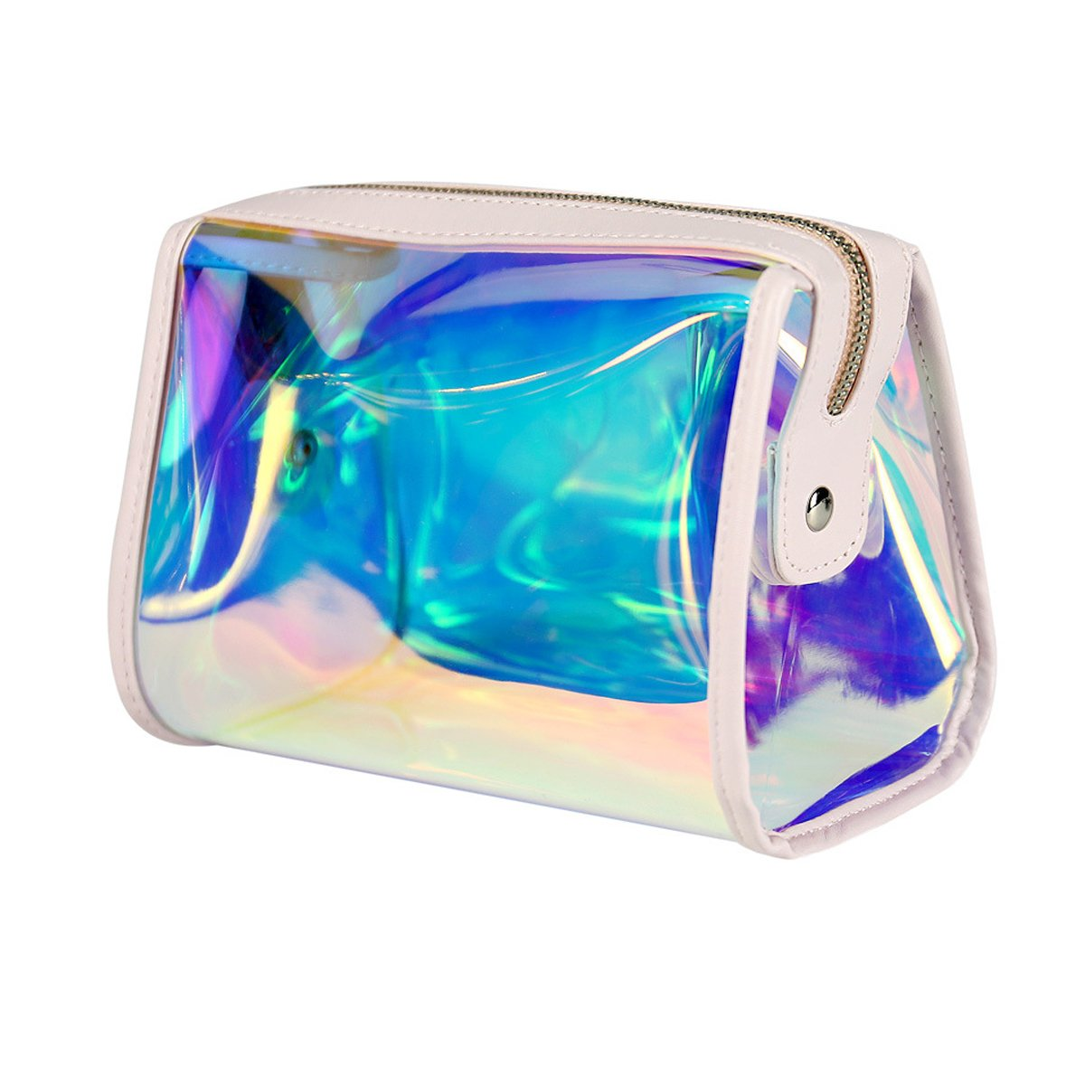 Andear Women's PVC Clear Hologram Transparent Clutch MakeUp Purse Bag for Girls by Andear (Image #1)