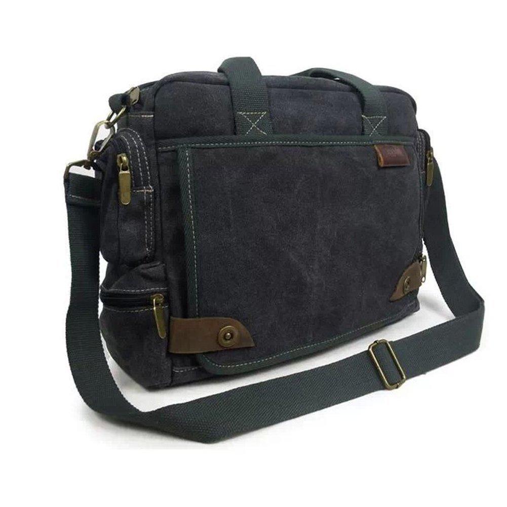 17d7d99c40 E-Bestar sac à main homme en toile sac à bandoulière multi-fonction sac  multi poche pour le bureau sac de voyage sac loisir sac fourre tout sac pc  portable ...