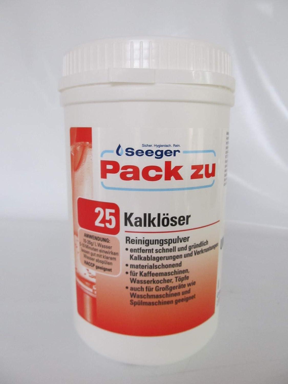 seeger, pack de 25, Solucionador de cal polvo para lavavajillas ...