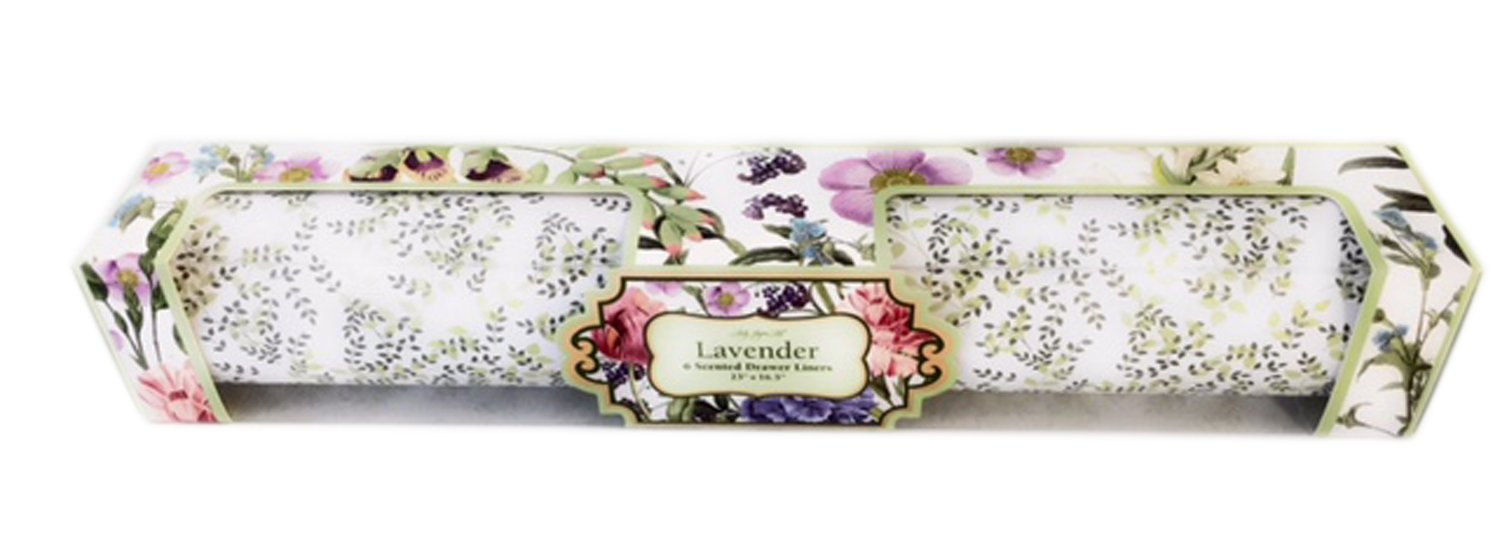 Lady Jayne Ltd. Boxed Lavender Scented Drawer Liners, Victorian Garden, 6 ct