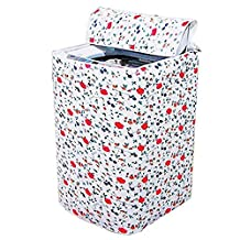 Waterproof washing machine cover Washer/Dryer Cover The random pattern on the top cover of washing machine waterproof and dustproof cover (A)