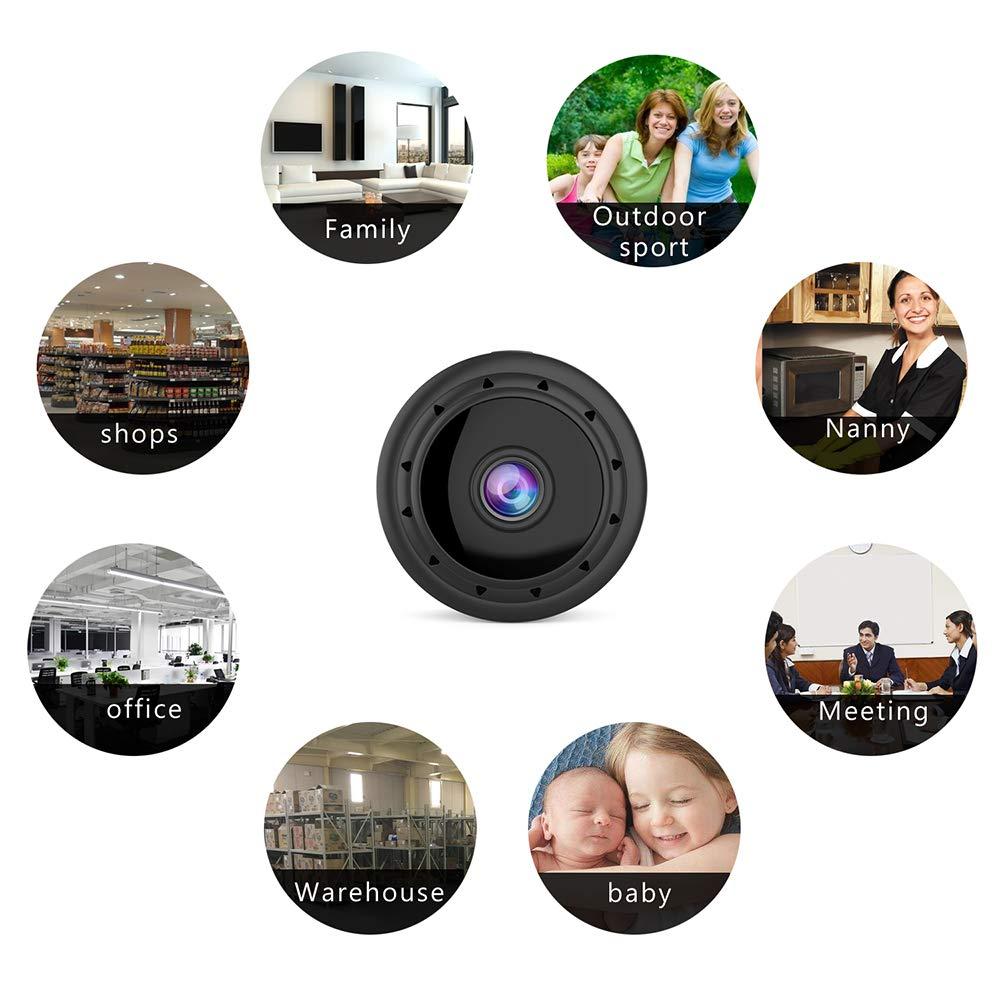 Mini c/ámara esp/ía WiFi C/ámara Oculta inal/ámbrica con Auto visi/ón Nocturna//Sensor de Movimiento grabadora de Video HD 1080P para monitoreo de Seguridad Soporte iPhone//Android Tel/éfono//iPad//PC