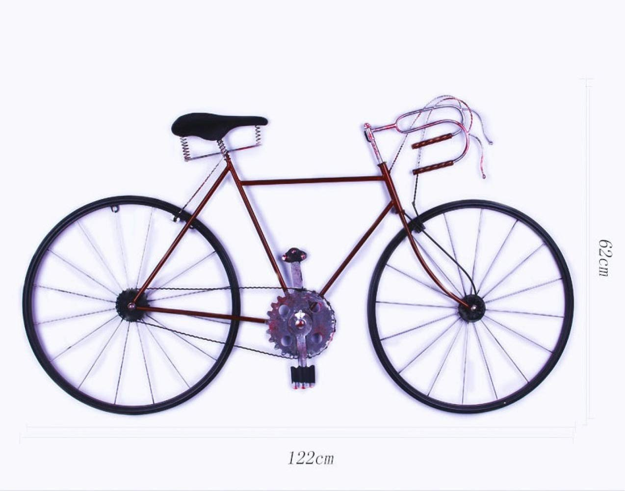 nouler Retro Wrought Iron Home Living Room Corridor Pendant Decoration Bicycle Restaurant Bar,red,One Size