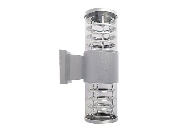 Plafoniera Da Esterno Con Doppia Lampada : Applique esterno grigio lampada luce parete plafoniera doppio