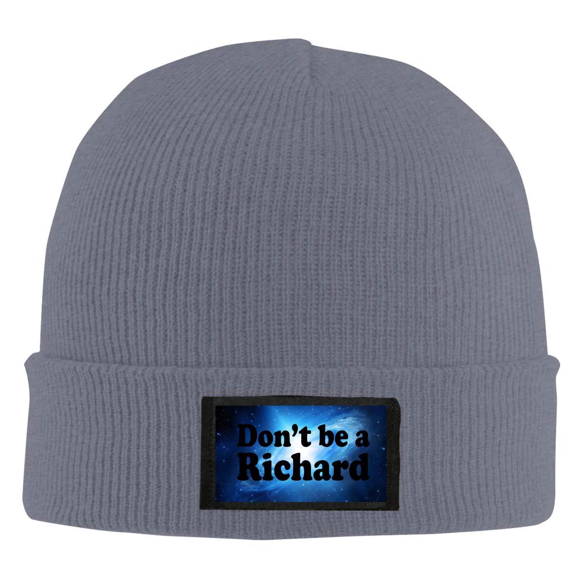 Xdinfong Dont Be A Richard Winter Beanie Hat Knit Hat Cap for Men /& Women