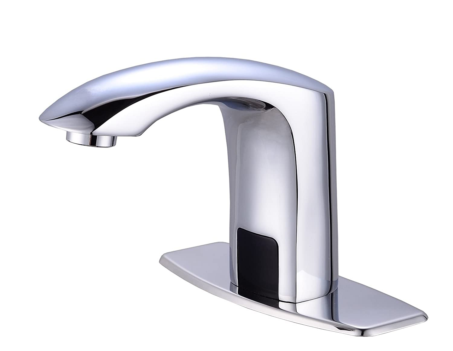 Touchless faucets bathroom - Gangang Lavatory Bathroom Touch Free Automatic Sensor Tap Sink Hot Cold Mixer Faucet Chrome Brass
