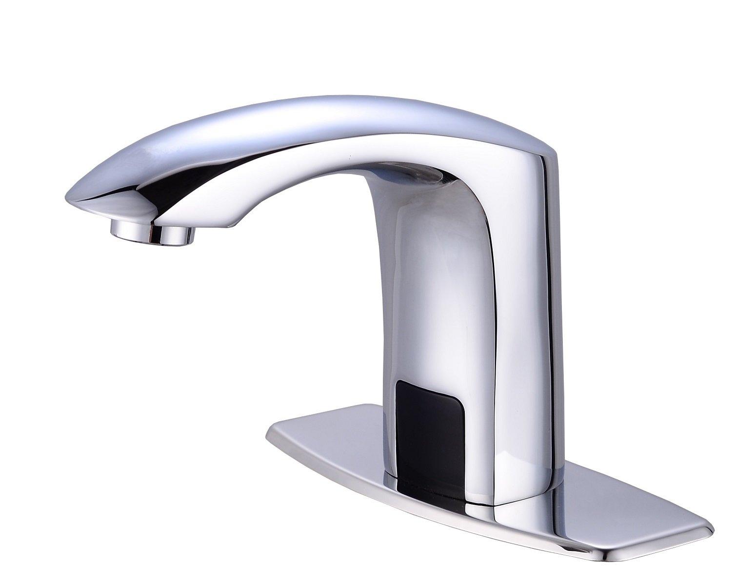 Gangang Lavatory Bathroom Touch Free Automatic Sensor Tap Sink Hot ...