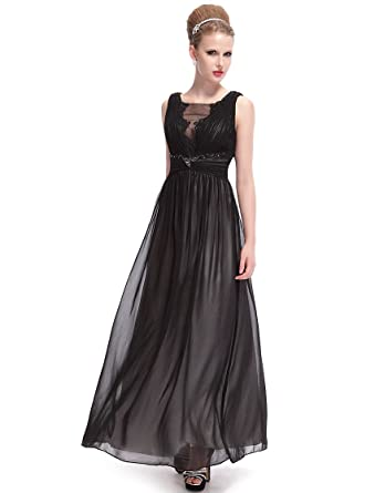 HE09992BK16, Black, 16UK, Ever Pretty Fashion Party Maxi Dresses Size 16 09992