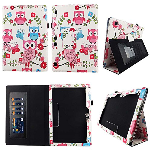 Plus Poly Portfolios (Pink Owl Butterfly Lenovo Tab 10 / Lenovo Tab 2 A10 Case Premium PU Leather Folio Cover for Lenovo Tab2 A10-70 / Tab2 A10-30 / Tab 3 10 Plus / Tab 3 10 Business / TAB-X103F Tab 10 w Auto Sleep/Wake S)