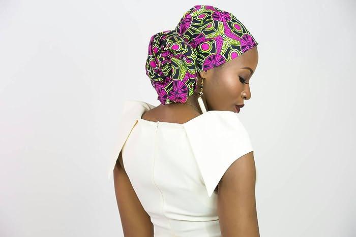 Pink and green head wrap, Pink and green Ankara head wrap, Ankara head scarf, African head wrap, Ankara headwrap, African head scarf, African headwrap, ...
