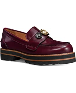a1ada447e0c Coach Womens s Lenox Loafer Shoes Cabernet