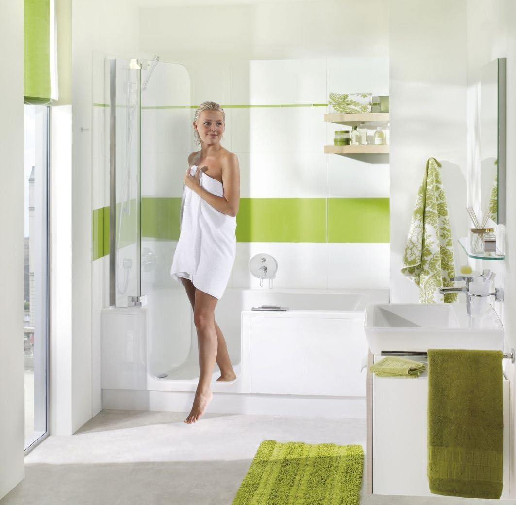 Bañera con puerta y ducha 160 Artweger Twin Line 2 con suela Zona ...