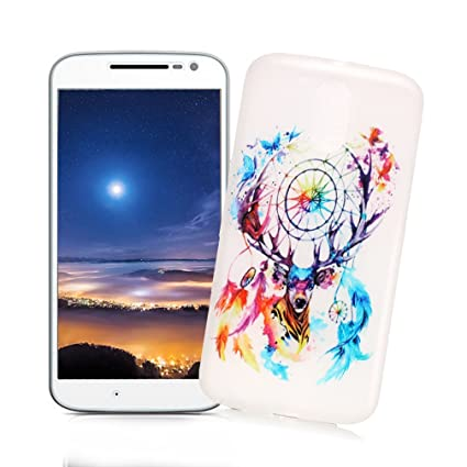 XiaoXiMi Carcasa Motorola Moto G4 PLAY Funda Luminosa de Silicona Caucho Gel para Motorola Moto G4 PLAY Soft TPU Silicone Case Cover Carcasa ...