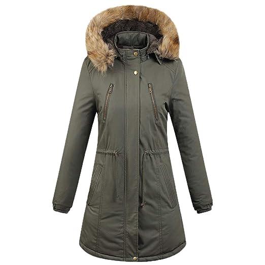 21a4249fc1 Amazon.com: URIBAKE ❤ Fashion Women's Hooded Coat Winter Trench ...