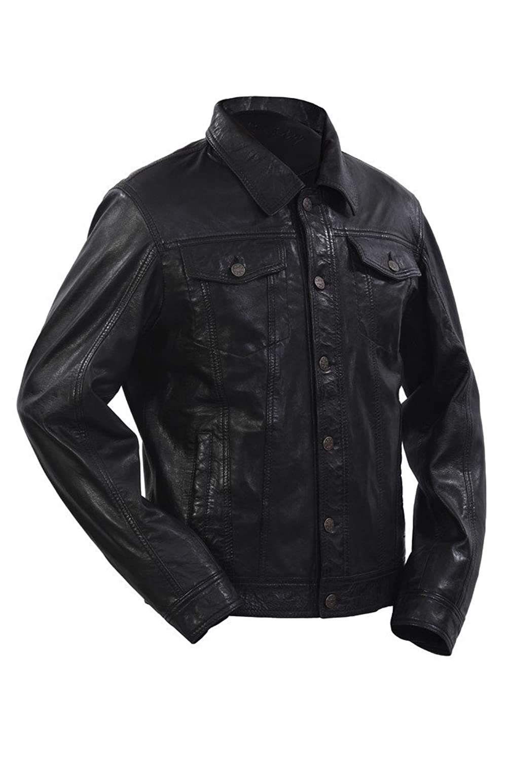 Veste en cuir the slim trucker levi's