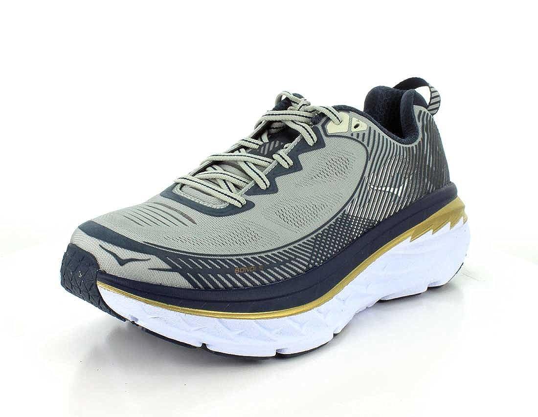 Navy Mens Hoka ShoeCool Gray One Midnight Running Bondi 5 3Lj45AR