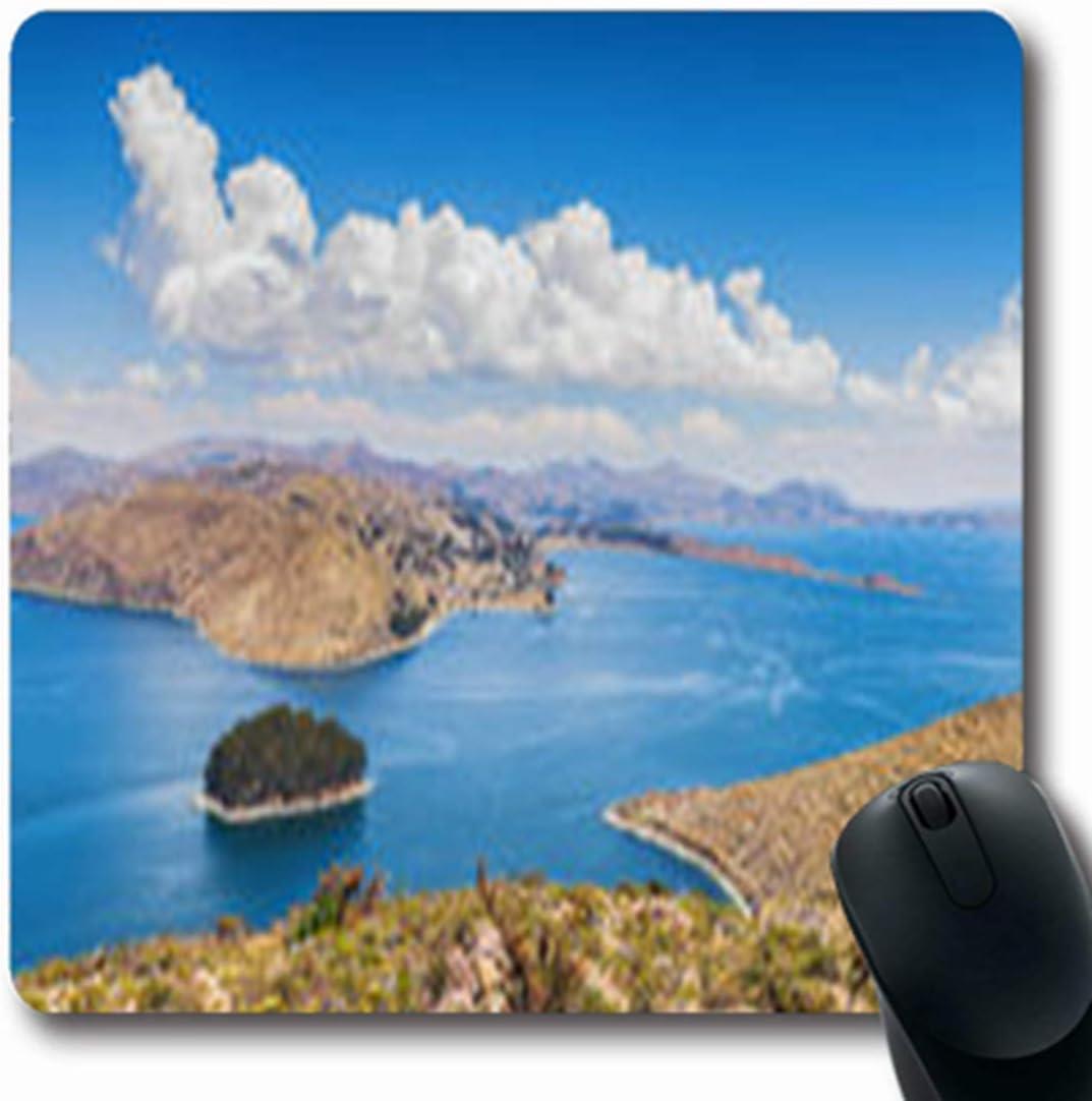Luancrop Alfombrillas Paz Isla del Sol Titicaca Agua Lago Comunidad Parques Naturales Juegos Oblongos Al Aire Libre Alfombrilla De Ratón Estera De Goma Antideslizante: Amazon.es: Electrónica