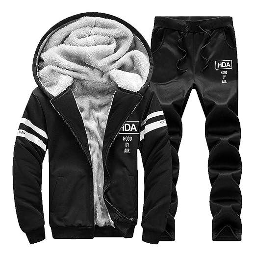91122008e4231 Fashionmy Men's Winter Sweatsuits Warm Tracksuits Active Hoodies ...