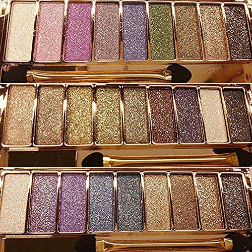 Dongtu 9 colors Waterproof Makeup Eyeshadow Glitter Palette with Brush Eyeliner