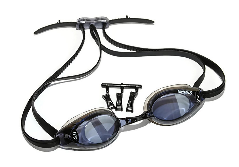 75b8651333d2 Amazon.com   Sports Vision World Prescription Swim Goggles Mixed Lenses  Right   Left   Sports   Outdoors