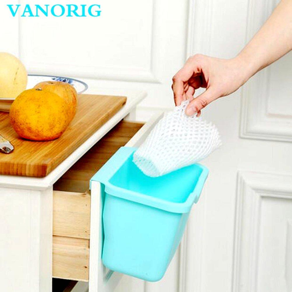 Amazon.com: Creative Plastic Basket Wastebaskets VANORIG ...