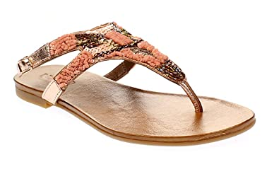 sale a7672 9a654 Amazon.com | Inuovo Women's Toe Post Sandals Rose Gold UK 3 ...