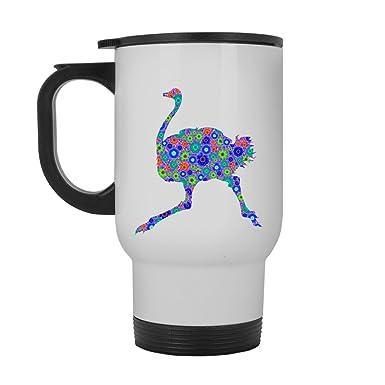 Amazon.com: Emu White Travel Mug   Emu Travel Mugs Ceramic Cool Design Gift  For Friend, Family (White Travel Mug): Kitchen U0026 Dining