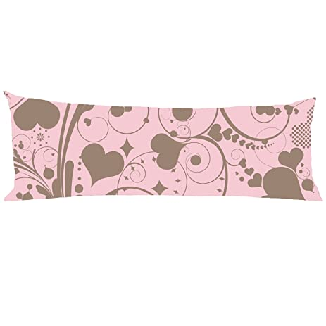 Scroped-Boyd Love design Body Pillow Cover Decorative Pillowcase Zipper 21x60 inch
