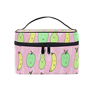 Toiletry Bag Multifunction Cosmetic Bag Banana Apple Pear Portable Makeup Pouch Waterproof Travel Organizer Bags For Women Girls Beauty