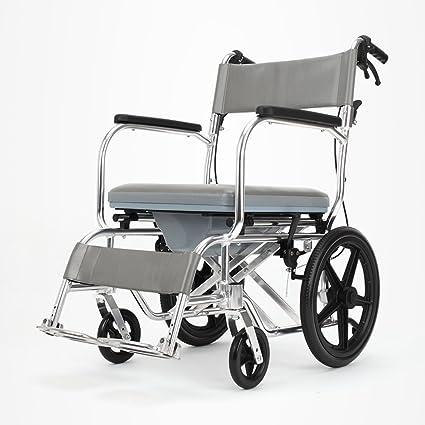 ZZHF Sillas de Ruedas Plegables para sillas de Ruedas con sillas de Aluminio para banquetas y