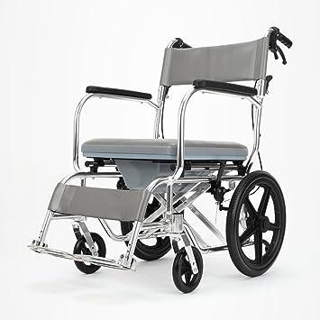 QFFL Sillas de Ruedas Plegables para sillas de Ruedas con sillas de Aluminio para banquetas y sillas para Ancianos Muletas Walker: Amazon.es: Hogar