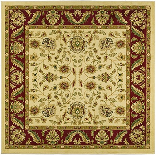 Safavieh Lyndhurst Collection LNH215A Traditional Oriental Ivory and Red Square Area Rug (8' Square)