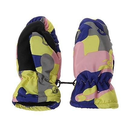 Baby Winter Waterproof Warm Mittens Boy Girl Kids Children Outdoor Ski Gloves