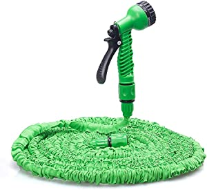 Expandable Garden Hose, 50ft Strongest Expanding Garden Hose with Triple Layer Latex Core & Latest Improved Extra Strength Fabric Protection for All Your Watering Needs Improved Design (50FT(15M))